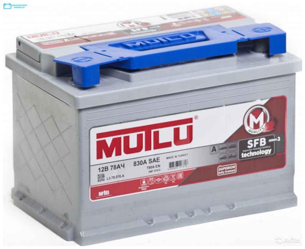 Аккумулятор Mutlu SBF М3 78 R+ низкий (LB3) в Москве. Фото 1
