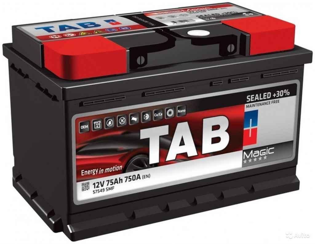 Аккумулятор TAB magic 75 R+ низкий (LB3) в Москве. Фото 1