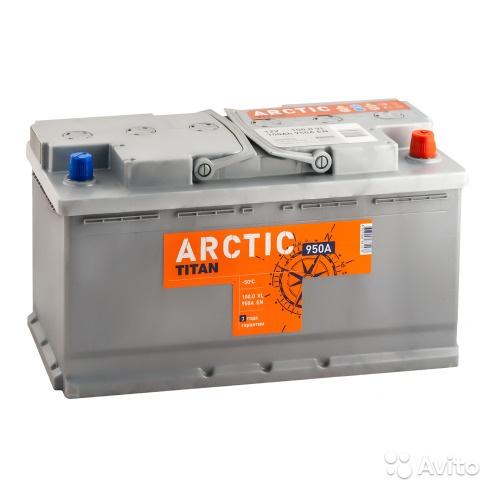 Аккумулятор titan arctic 100 R+ (L5) в Москве. Фото 1