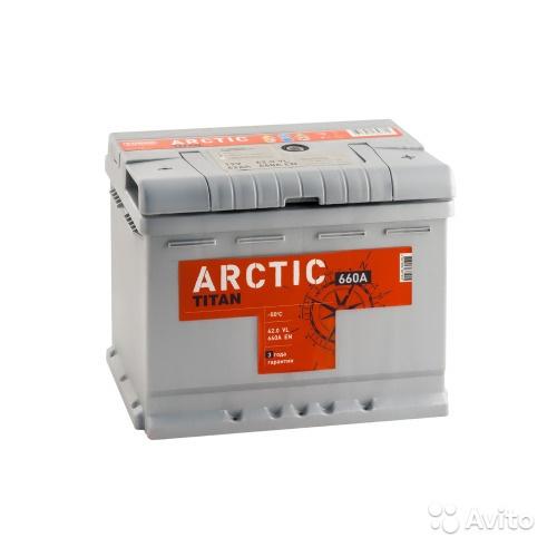 Аккумулятор titan arctic 62 R+ (L2) в Москве. Фото 1