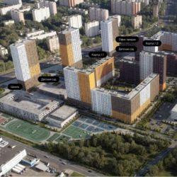 Продам квартиру в новостройке ЖК «Полярная, 25» , Корпус 1.2 Студия 18.9 м² на 14 этаже 15-этажного панельного дома , тип участия: ДДУ