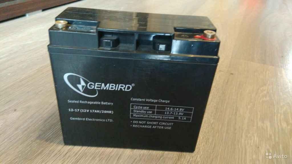 Аккумулятор для ибп Gembird 12 вольт 19 ампер в Москве. Фото 1