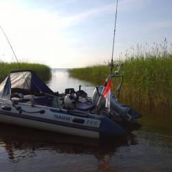 Лодка ямаран 410 с мотором хонда