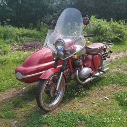 Ява 350 с коляской Jawa Velorex 1972 г.в