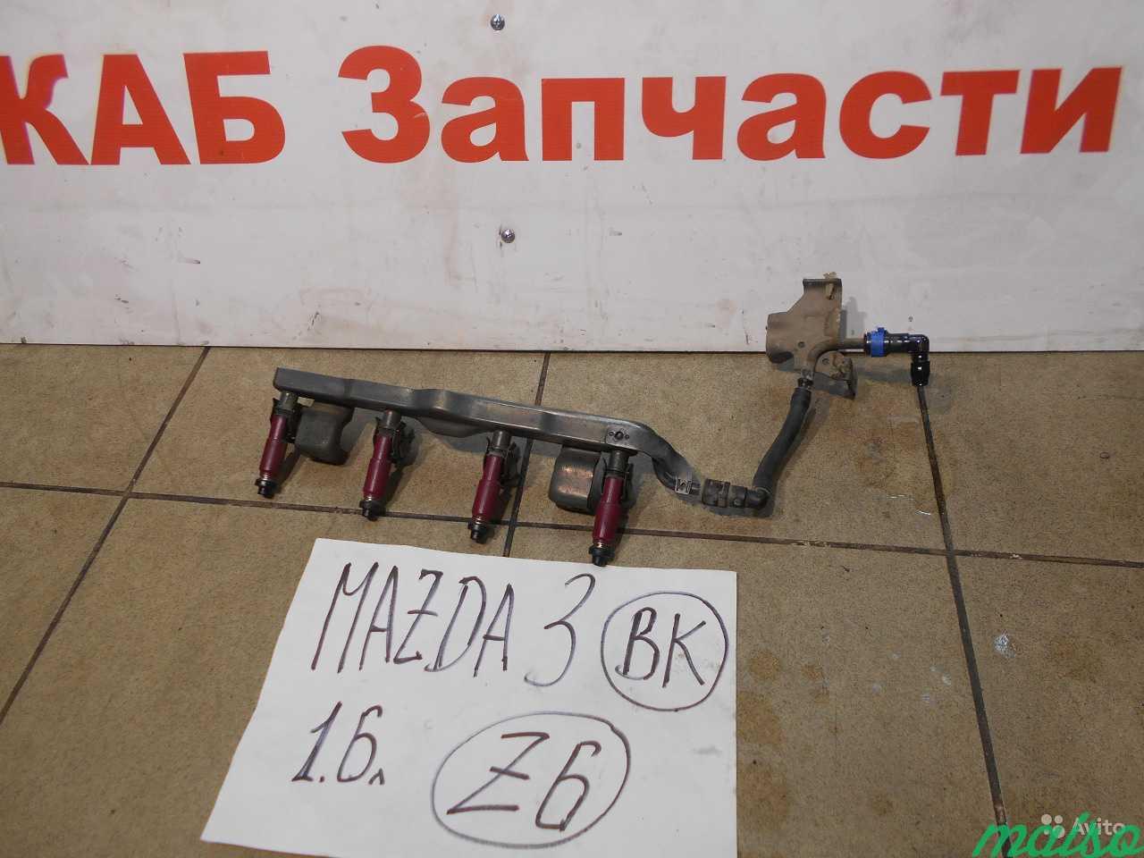 Форсунка топливная инжекторная Mazda 3 BK 1.6 Z6 в Санкт-Петербурге. Фото 1