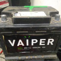 55Ач аккумулятор б/у Vaiper 6ст-55