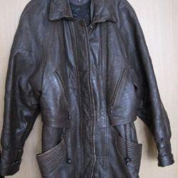 Кожаная куртка бу c подарком