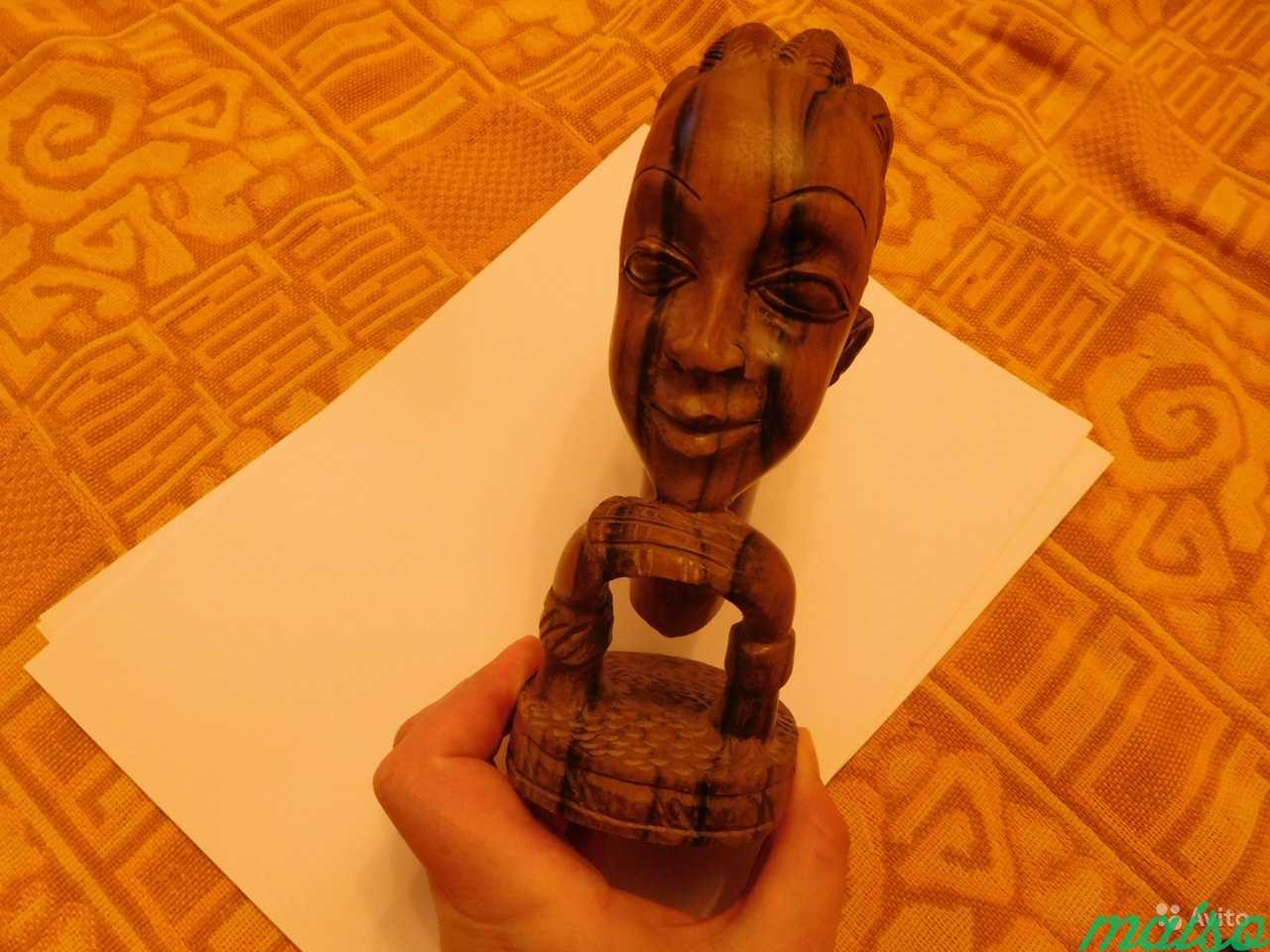 Африканска статуэтка голова женщины Эбеновое дерев в Москве. Фото 4