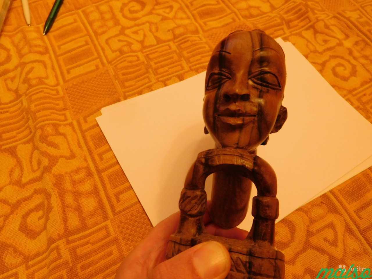 Африканска статуэтка голова женщины Эбеновое дерев в Москве. Фото 2