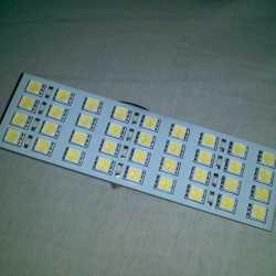Светодиодная планка в плафон салона под цоколь C5W
