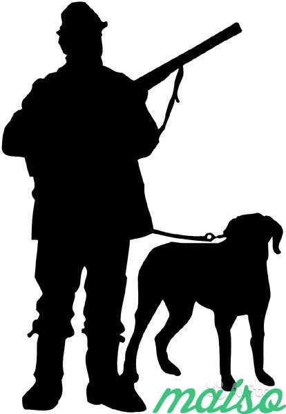 Новым, картинки охотник и собака черно белые