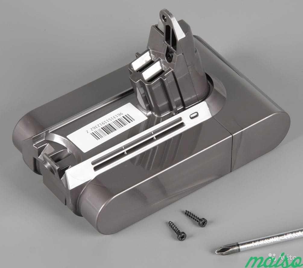 замена аккумулятора на пылесосе дайсон