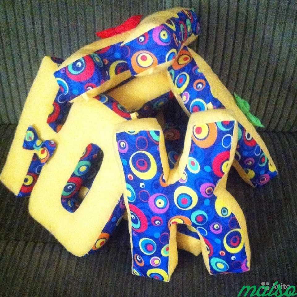 Буквы-подушки, подарок на рождение в Москве. Фото 3