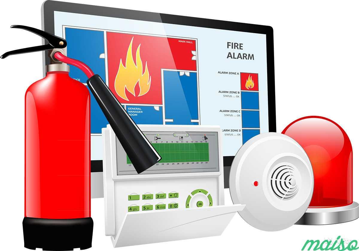 Картинка установка пожарной сигнализации