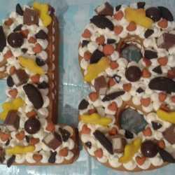 Торт цифра (домашняя)