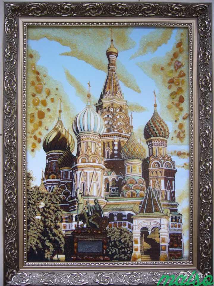 Янтарная картинаХрам Василия Блаженного в Москве. Фото 1