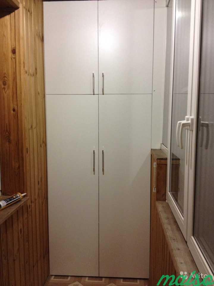 Встроенный шкаф на лоджию в Москве. Фото 1