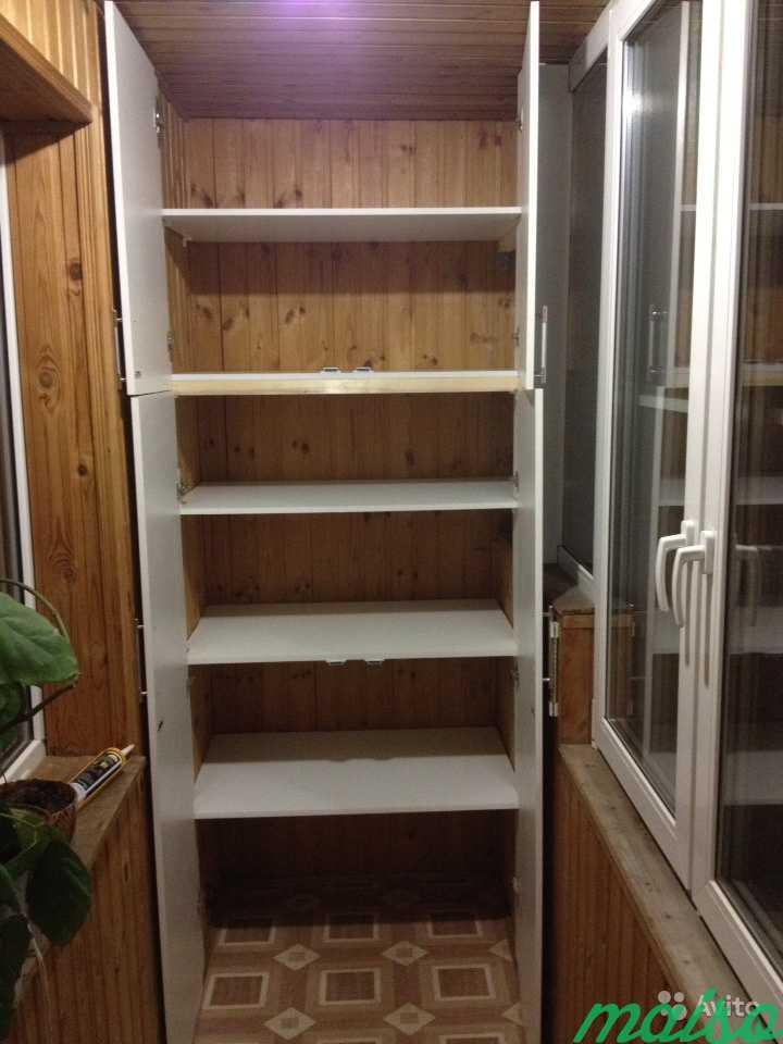 Встроенный шкаф на лоджию в Москве. Фото 4