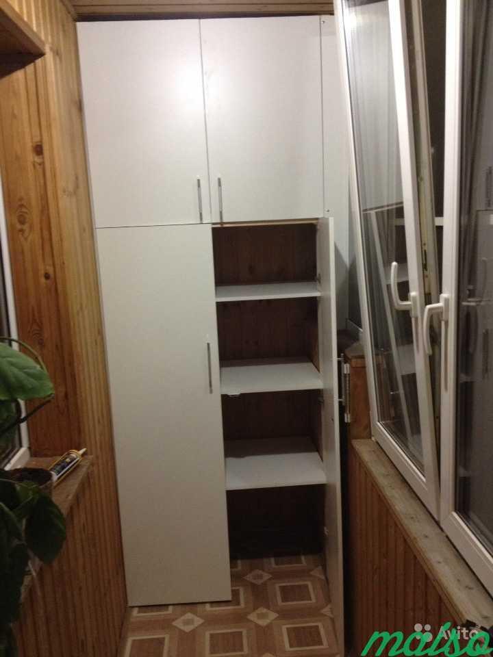 Встроенный шкаф на лоджию в Москве. Фото 3