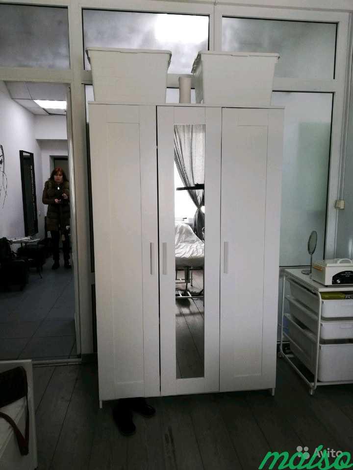 Шкаф белый бримнэс в Москве. Фото 1