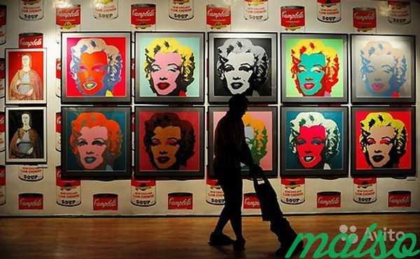 Картина Мерлин Монро Энди Уорхол в Москве. Фото 2