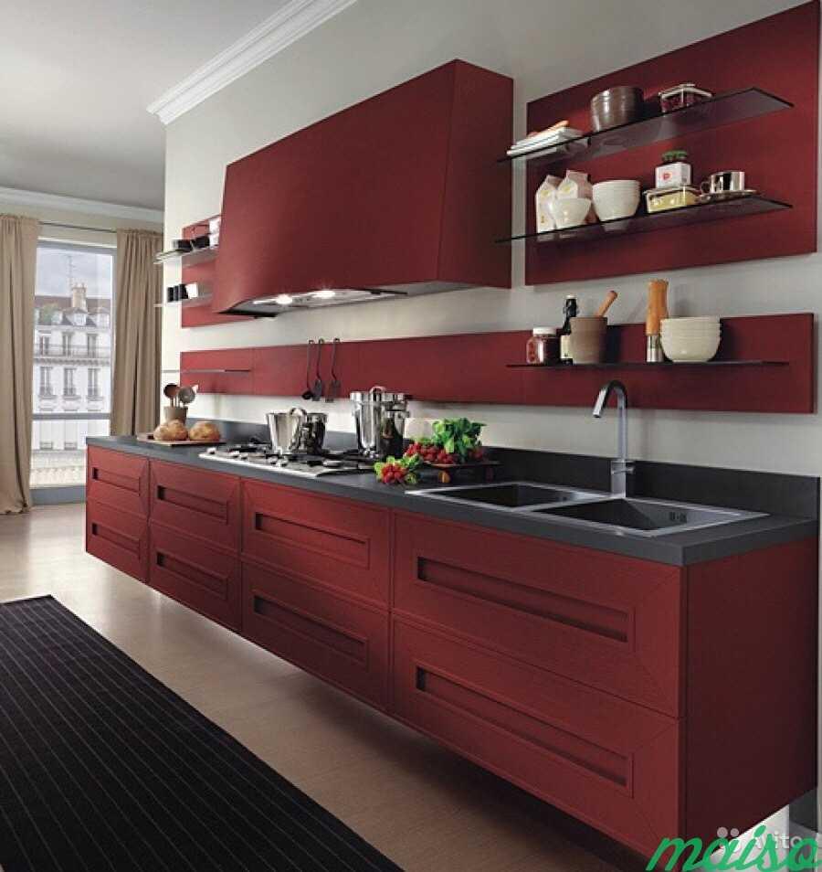 кухни бордового цвета с другими цветами фото утилиты уже