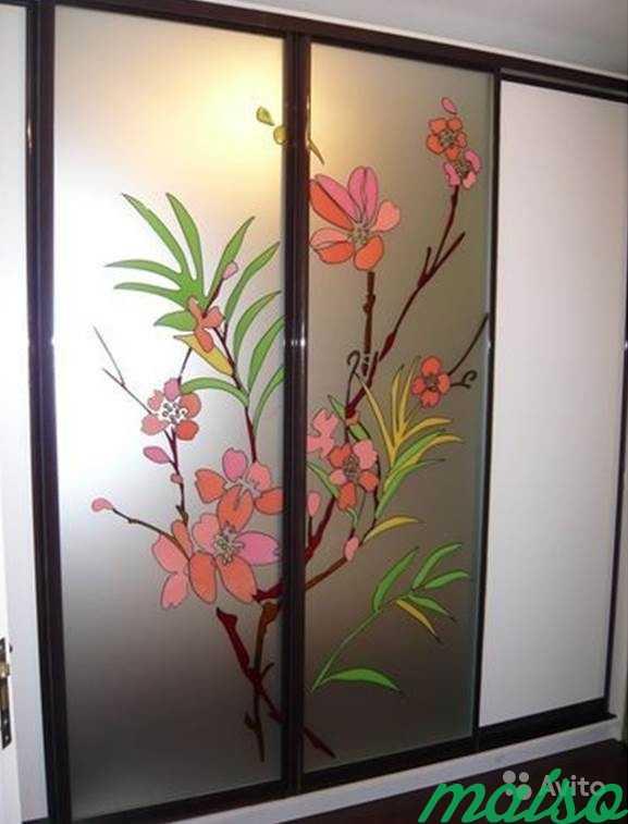 Шкаф-купе Цветы Сакуры в Москве. Фото 1
