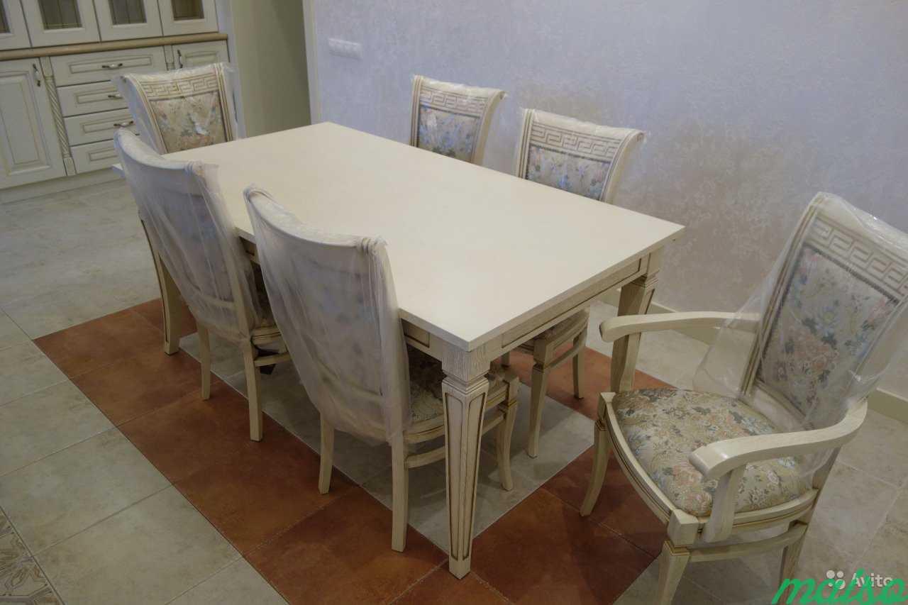 Стол кухонный и стулья из массива дуба в Москве. Фото 1