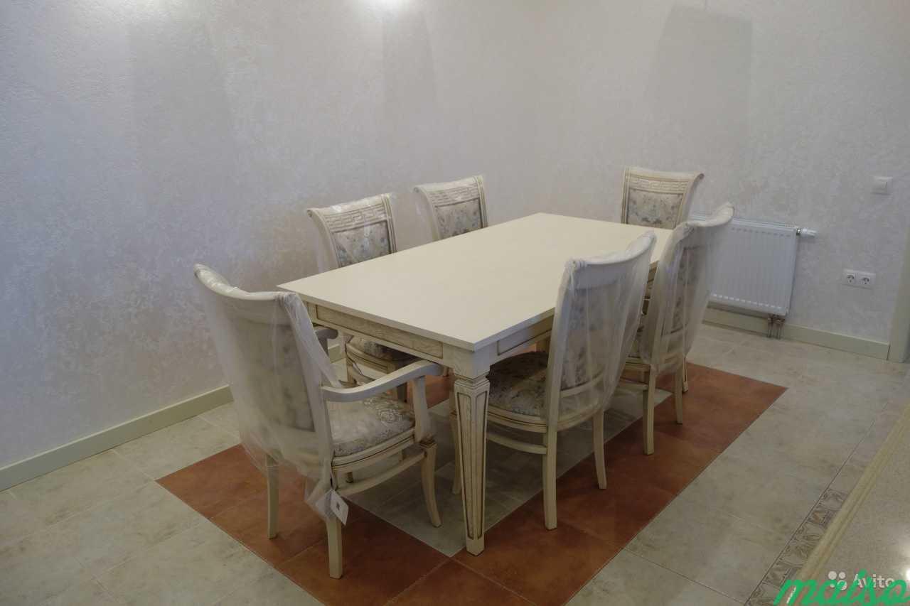 Стол кухонный и стулья из массива дуба в Москве. Фото 2