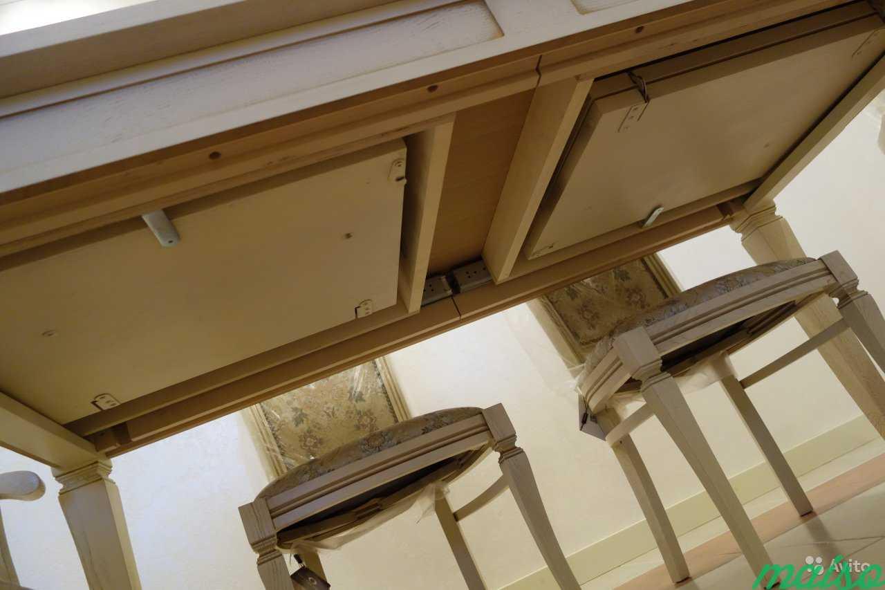 Стол кухонный и стулья из массива дуба в Москве. Фото 4