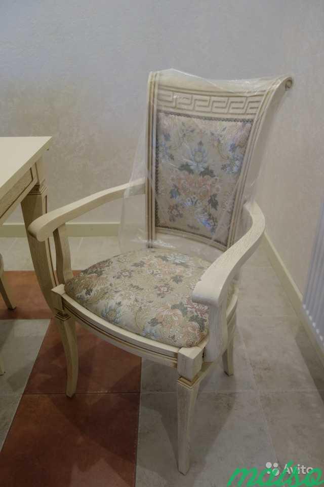 Стол кухонный и стулья из массива дуба в Москве. Фото 3