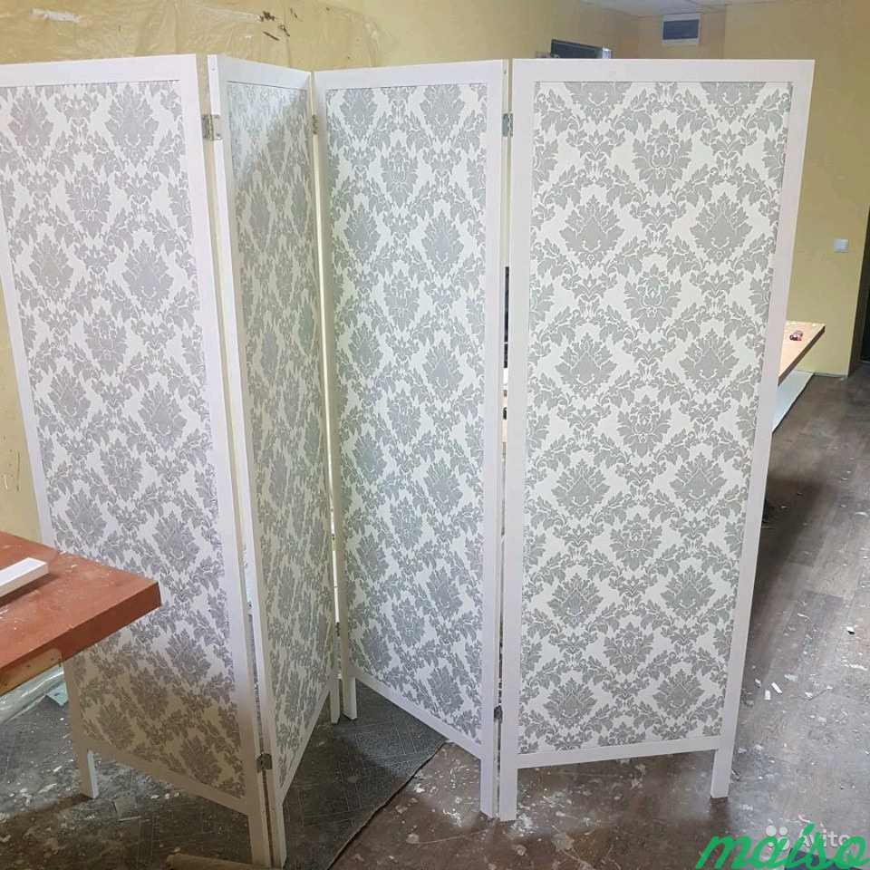 Ширма лофт барокко серебристо в Москве. Фото 3