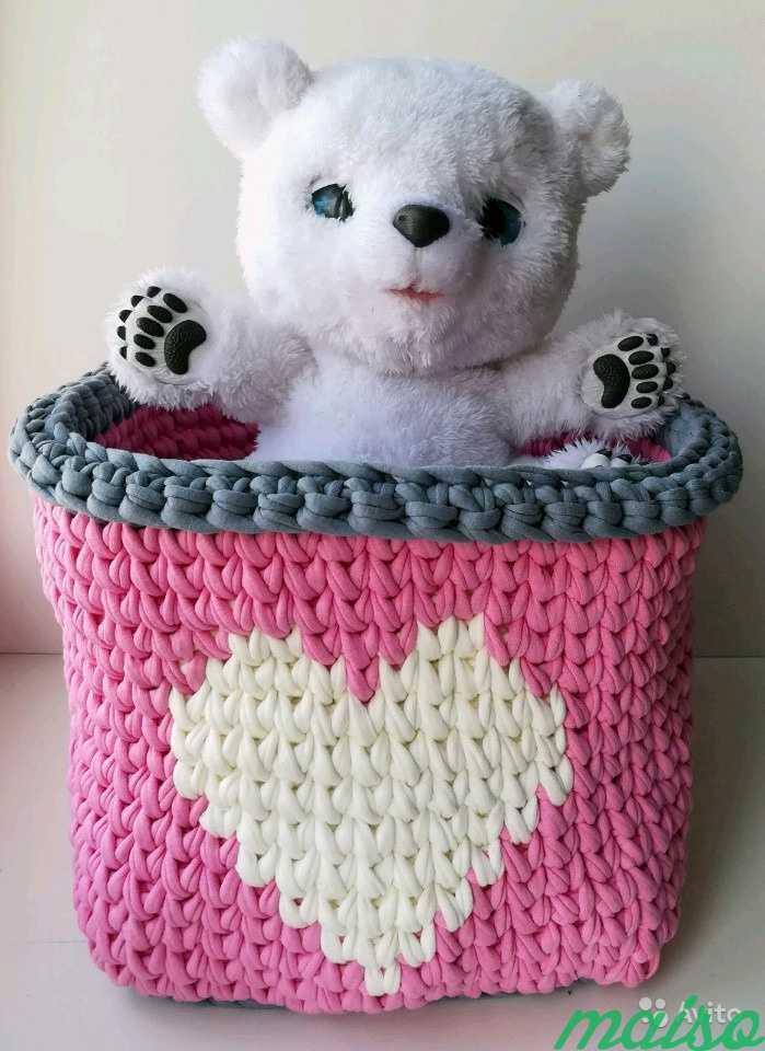 Трикотажный коврик, корзина для девочек в Москве. Фото 2