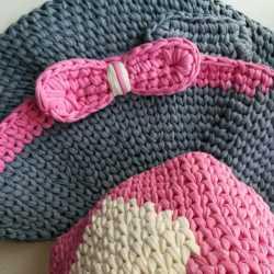 Трикотажный коврик, корзина для девочек