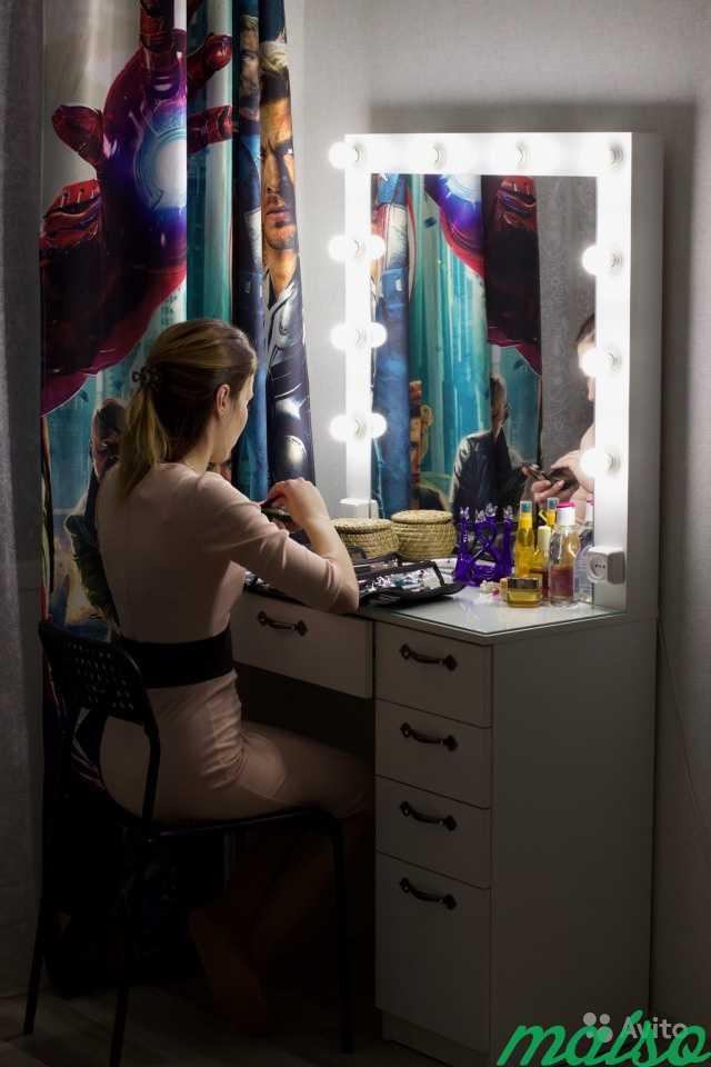 Гримёрный стол С2 Белый в Москве. Фото 3