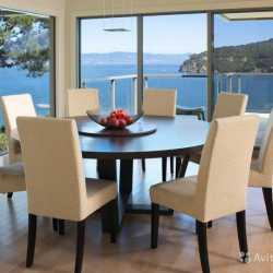 Лофт круглый обеденный стол