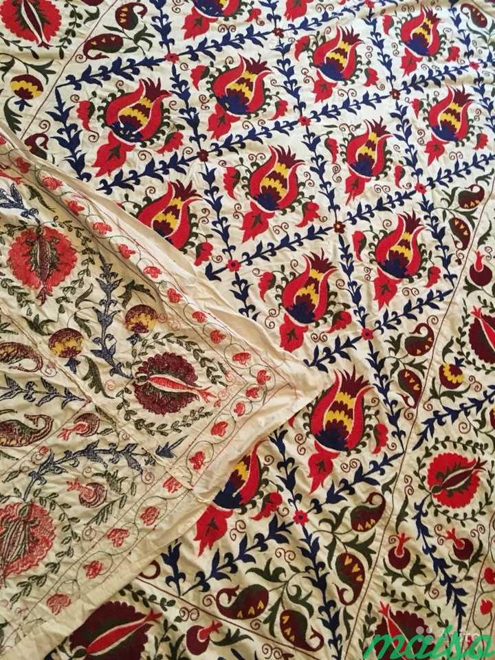 Узбекское сюзане, покрывало ручной работы в Москве. Фото 4