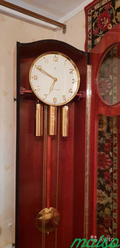 Часы напольные с боем Янтарь в Москве. Фото 2