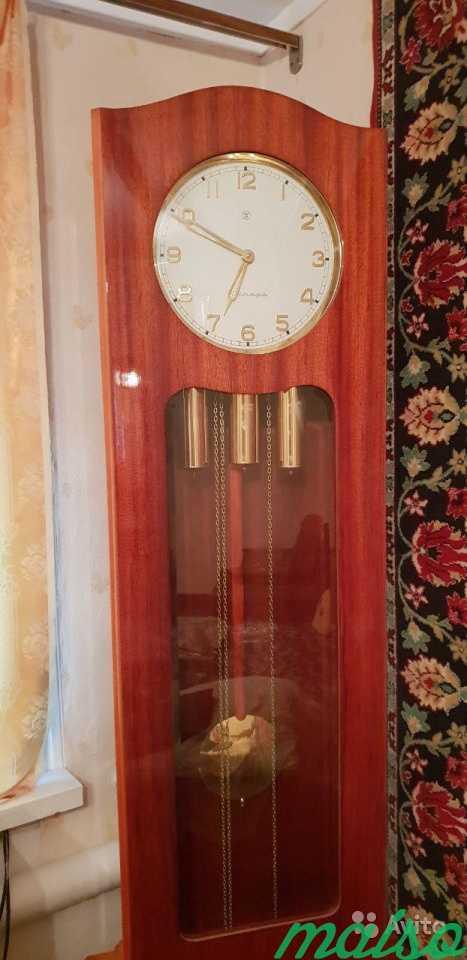 Часы напольные с боем Янтарь в Москве. Фото 3