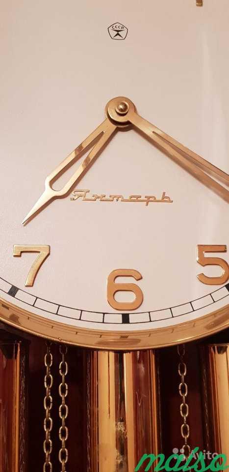 Часы напольные с боем Янтарь в Москве. Фото 1