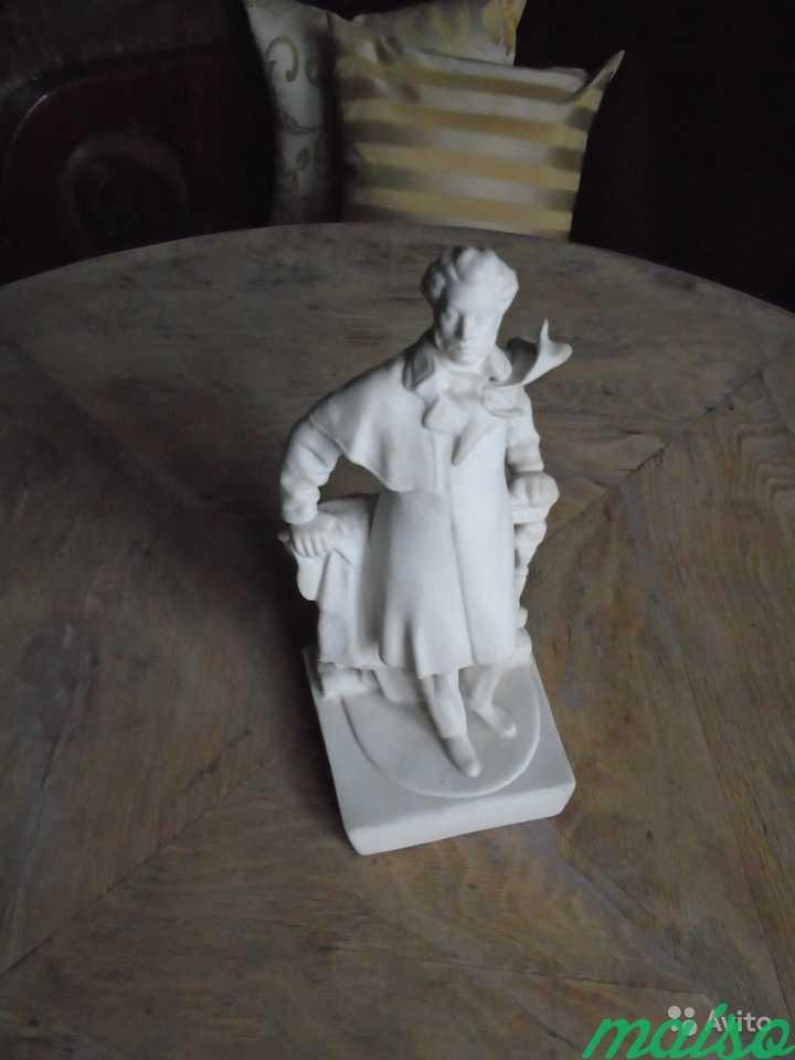 Редкая статуэтка Пушкин Бисквит в Москве. Фото 6