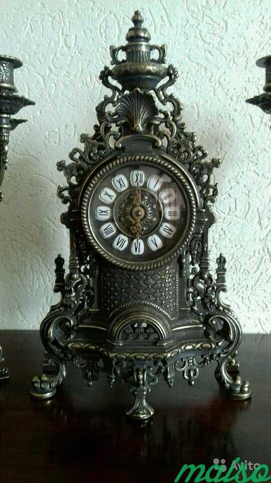 Набор Часы + 2 канделябра Барокко антик в Москве. Фото 4