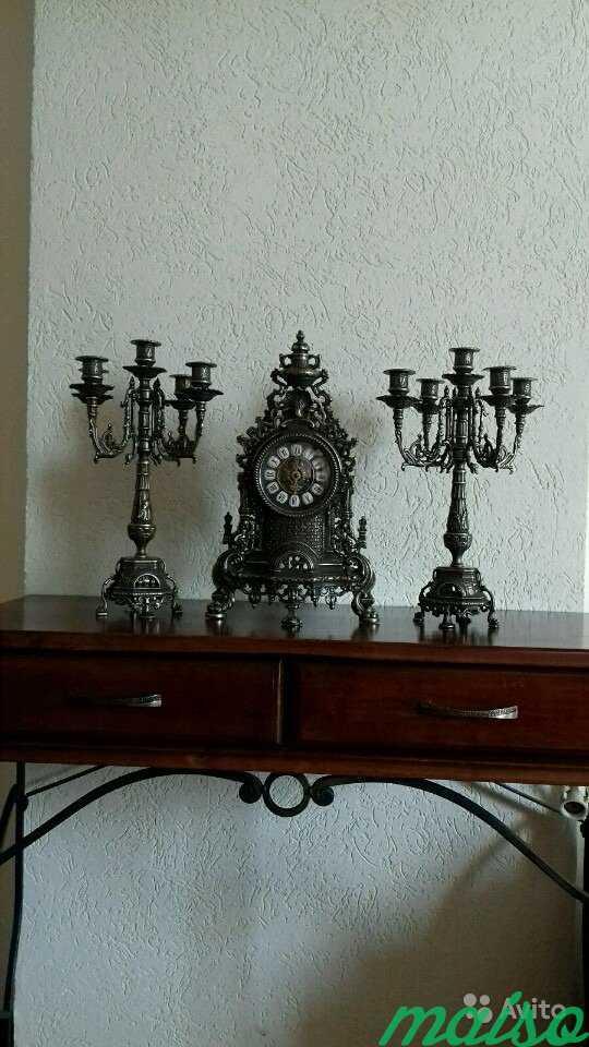 Набор Часы + 2 канделябра Барокко антик в Москве. Фото 1