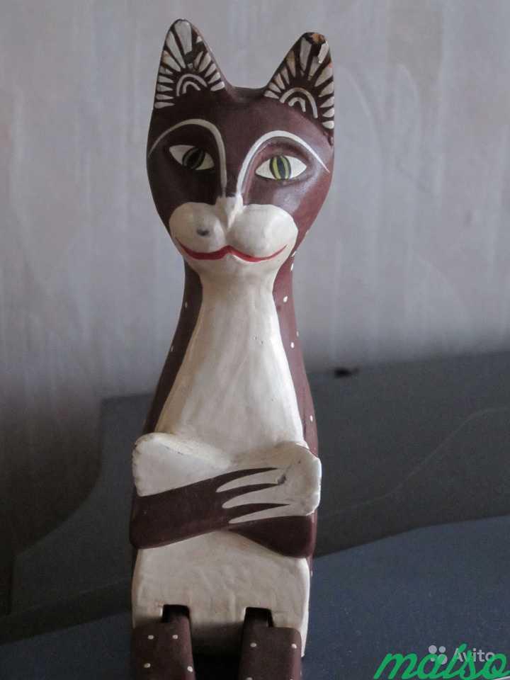 Кот деревянный винтаж (Германия) в Москве. Фото 2