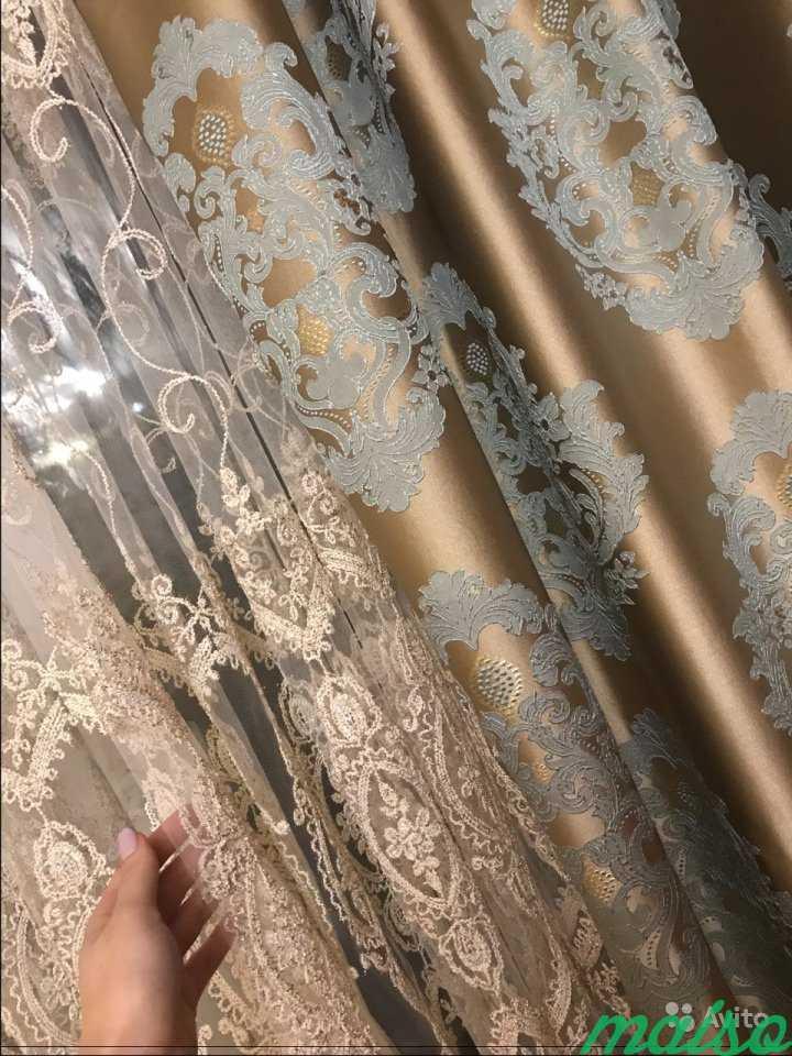 Тюль Италия объемная вышивка в Москве. Фото 4
