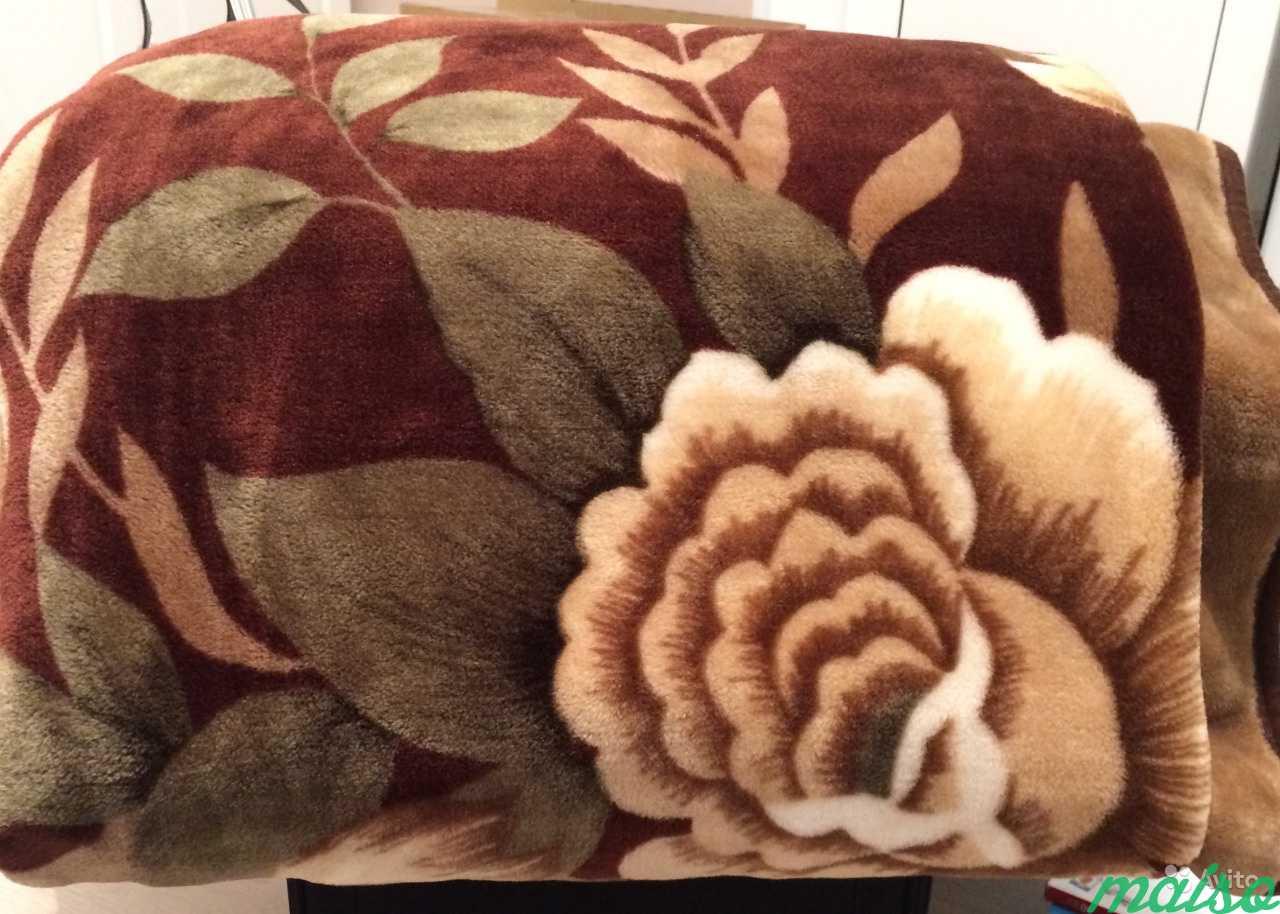 Одеяло плюшевое коричневое в Москве. Фото 1