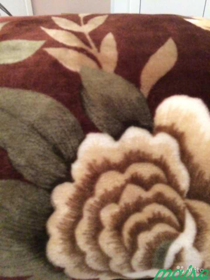 Одеяло плюшевое коричневое в Москве. Фото 2