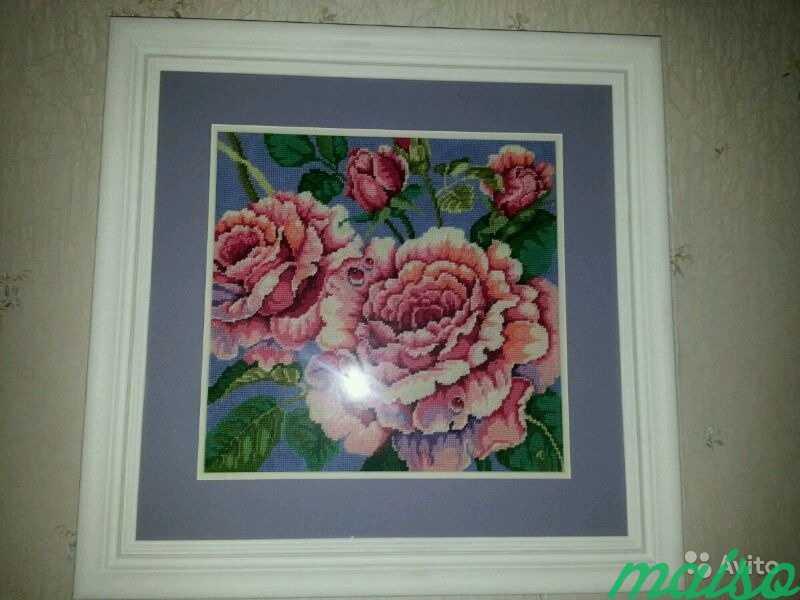 Картина Роза (вышивка,гобелен) в Москве. Фото 1