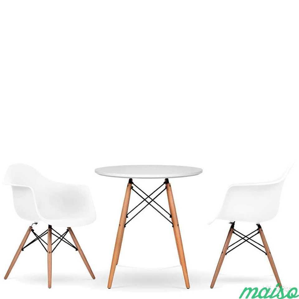 Дизайнерских Стол Eames круглый 80см. белый в Москве. Фото 2