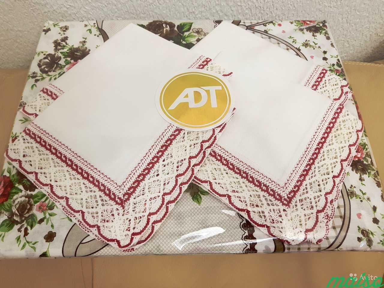 Комплект скатерть+4 салфетки хлопок в Москве. Фото 1